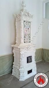 Antik barokk díszes cserépkályha