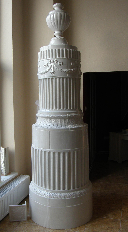 Barokk cserépkályha új csempéből. Rendelésre készítve. Rendeléstől számítva kb 8-10 hét alatt készül el.